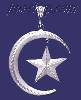 Sterling Silver DC Big Moon & Star Charm Pendant
