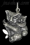 Sterling Silver Koala Bear w/Baby on Back Animal Charm Pendant