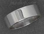 Sterling Silver Flat Wedding Band Ring 7mm sz 9