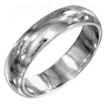 Sterling Silver Wedding Band Ring 5mm sz 7