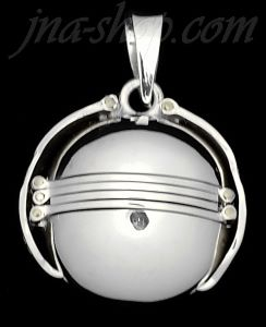 Sterling Silver 6-Picture Photo Ball Locket Charm Pendant