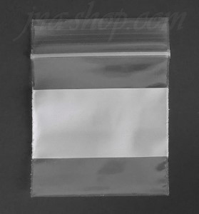 "Ziplock w/White Block Reclosable Plastic Bags 100pcs 2"" x 2"""